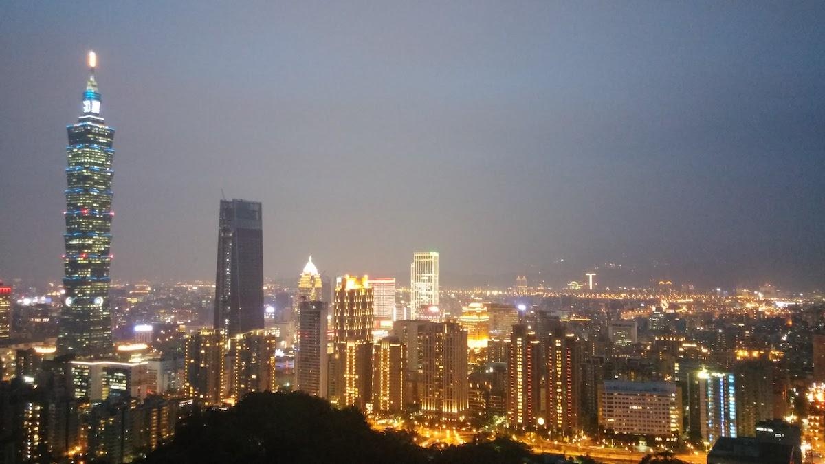 Taipei 101 - בלילה