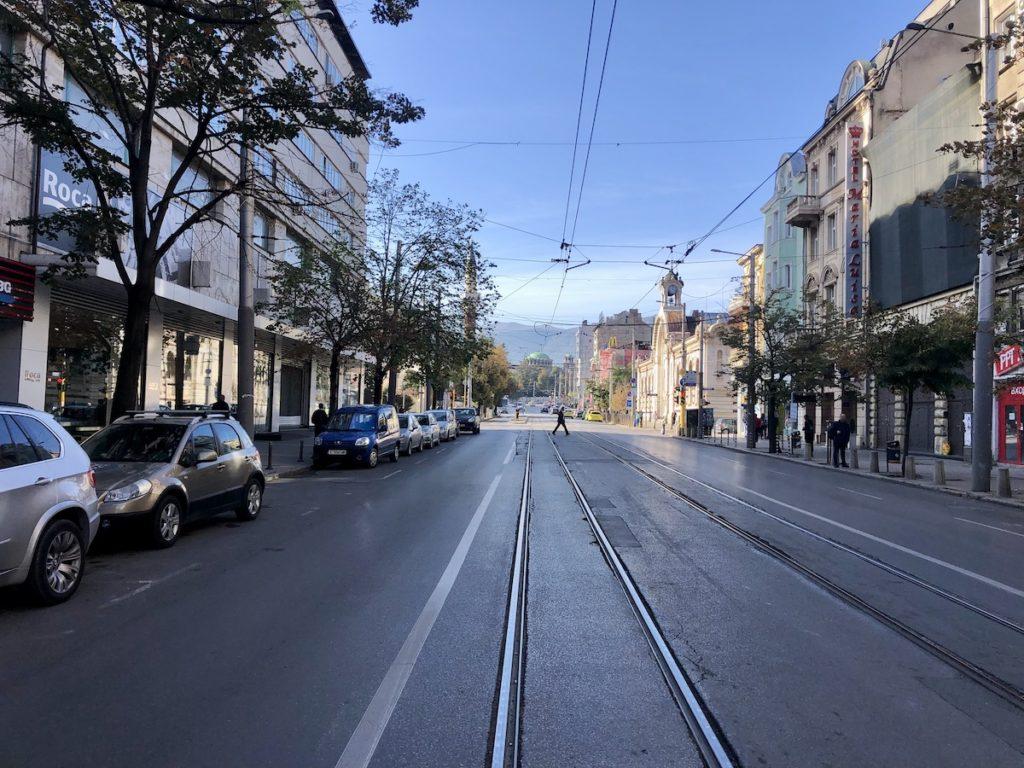רחוב טיפוסי בעיר סופיה