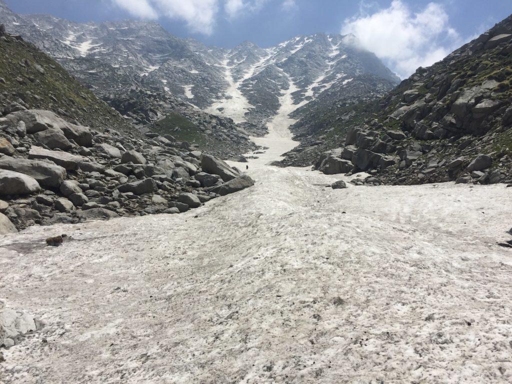 הקרחון, סוף המסלול