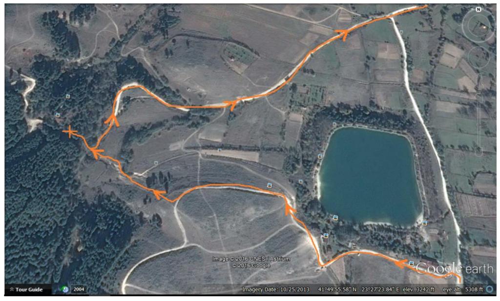 מסלול קל 3 מפת המסלול מלמלעה